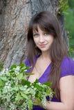 kvinna för naturpark Arkivbilder
