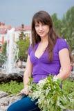 kvinna för naturpark Royaltyfri Foto
