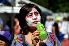 kvinna för nyc för makeup för dagfestivaljapan kabuki Royaltyfria Bilder