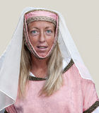 kvinna för pontremoli för dräktfestival mediaeval Arkivbild