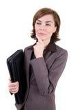 kvinna för portföljaffärsläder Arkivbild