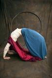 kvinna för röd ridning för huv klok Arkivfoto