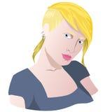 kvinna för rengöringsduk för mall för sida för hälsning för bakgrundskortframsida universal Arkivfoton