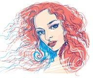 kvinna för rengöringsduk för mall för sida för hälsning för bakgrundskortframsida universal vektor illustrationer