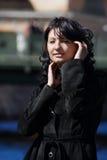 kvinna för sensuality för bakgrundskanalflod royaltyfria bilder
