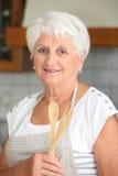 kvinna för serveror för holdingsallad hög Arkivfoton