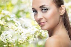 kvinna för smink för skönhetframsidamode Royaltyfri Fotografi