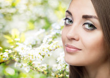 kvinna för smink för skönhetframsidamode Fotografering för Bildbyråer