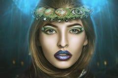 kvinna för smink för skönhetframsidamode arkivbilder