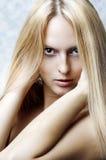 kvinna för stående för modehårhälsa Royaltyfria Bilder