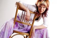 kvinna för stående s Fotografering för Bildbyråer