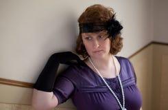 kvinna för ståendestiltappning royaltyfria bilder