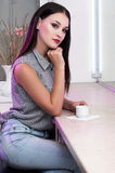 kvinna för stångillustrationvectror Royaltyfria Bilder