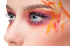 kvinna för stil för handarbete för konstfärgframsida Arkivfoton