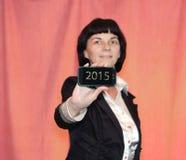 kvinna för stil för 60-taltelefonfoto Arkivfoton