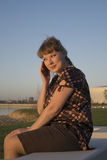 kvinna för stil för 60-taltelefonfoto Royaltyfri Foto