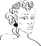 kvinna för svart framsida Arkivfoton