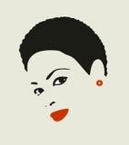 Kvinna för svart hår. vektor illustrationer