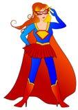 Kvinna för toppen hjälte royaltyfri illustrationer
