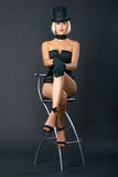 kvinna för variation för stångstolsshow sittande Fotografering för Bildbyråer