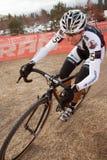 kvinna för racer för binghamcyclocross kelsy pro Arkivbilder
