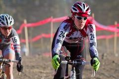 kvinna för studley för cyclocrosskari pro racer Fotografering för Bildbyråer