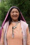 Kvinna från Baltistan, Indien Arkivbilder