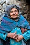 Kvinna från Baltistan, Indien Royaltyfria Foton