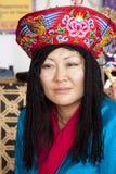 Kvinna från Bhutan Royaltyfri Fotografi