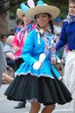 Kvinna från Peru på Folkmoot USA arkivbild