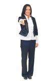 kvinna för affärsgestvälkomnande Royaltyfri Fotografi