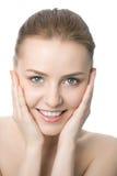 kvinna för skönhetcloseupframsida Royaltyfri Foto
