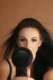 kvinna för torkande hår Royaltyfri Fotografi