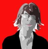 Kvinna framsida 64 stock illustrationer