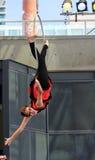 Kvinna-gymnast Royaltyfria Bilder