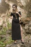 Kvinna i aftonklänning Royaltyfria Bilder