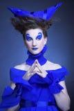 Kvinna i blått Royaltyfri Foto