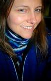 Kvinna i Blue Fotografering för Bildbyråer