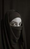 Kvinna i burka Royaltyfri Foto