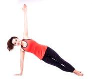 Pilates handling Arkivfoto