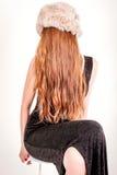 Kvinna i hatt Royaltyfri Bild