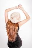 Kvinna i hatt Arkivfoton