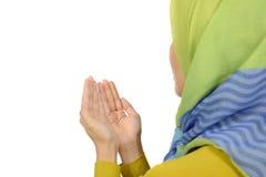 Kvinna, i Hijab att be Royaltyfria Foton