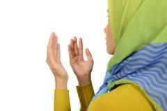 Kvinna, i Hijab att be Royaltyfria Bilder