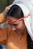 Kvinna i historisk dräkt Royaltyfria Bilder