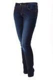 Kvinna i jeans Arkivfoto