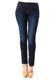 Kvinna i jeans Arkivbild