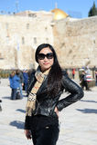 Kvinna i Jerusalem Arkivfoto