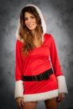 Kvinna i jultid Arkivfoton