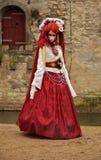 Kvinna i karneval i Venedig Royaltyfri Bild